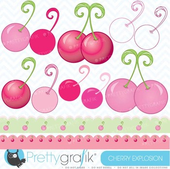 Cherry clipart commercial use, vector graphics, digital cl