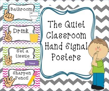 Chevron Hand Signal Posters