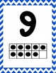 Chevron 0 - 20 Number Line with Ten Frames