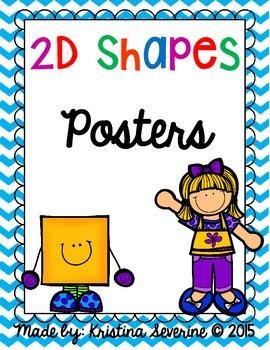 Chevron 2D Shapes Posters