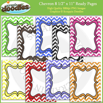 Chevron 8 1/2 x 11 Ready Pages