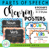 Parts of Speech Posters: Chevron Theme
