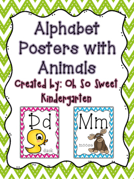 Chevron ABC Posters with Animals