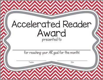 Chevron Accelerated Reader Award