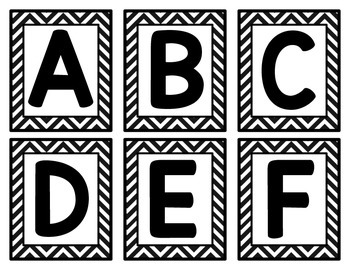 Chevron Alphabet Flash Cards
