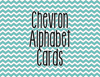 Chevron Alphabet Letter Cards (Blue) - Word Wall, Classroom Decor