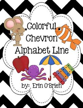 Chevron Alphabet Line
