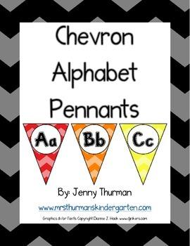 Chevron Alphabet Pennants
