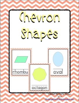 Chevron Shape Posters - Peach