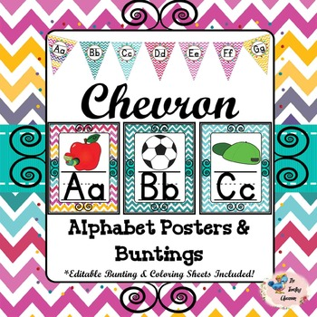 Chevron Alphabet Posters and Bunting