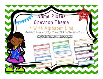 Chevron Alphabet Theme Name Plates