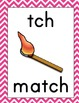 Chevron Alphabet Wall Cards ~ A-Z, digraphs, trigraphs, r-