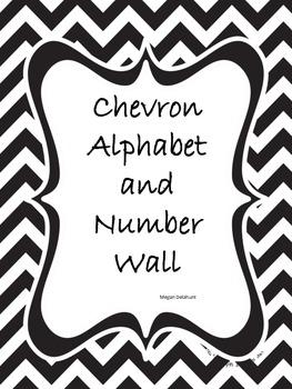 Chevron Alphabet and Number Line