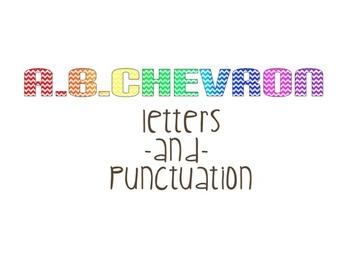 Chevron Alphabet and Punctuation