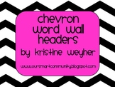 Chevron Alphabet for Word Walls or games in black and whit