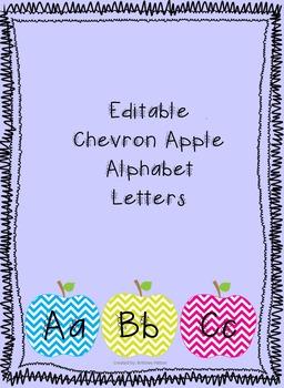 Chevron Apple Alphabet Letters