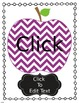 Chevron Apple Folder Covers- Editable!