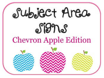 Chevron Apple Subject Area Signs