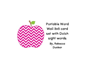 Chevron Apple Themed Portable Word Wall with Dolch Sight w