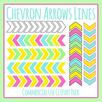 Chevron Arrow Lines Clip Art Set for Commercial Use