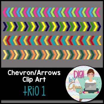 Chevron - Arrows Clip Art - Trio 1