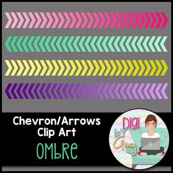 Chevron - Arrows Clip Art - Ombre
