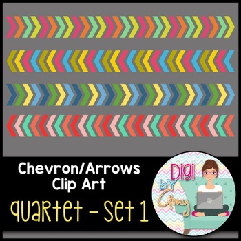 Chevron - Arrows Clip Art - Quartet 1