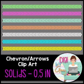 Chevron - Arrows Clip Art - Solids 0.5 inch