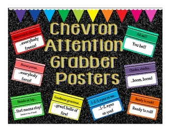 Chevron Attention Grabber Posters
