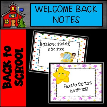 3rd Grade Welcome Notes