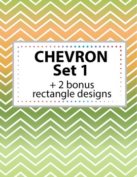 Chevron Background Set 1 + 2 bonus rectangle shapes. 11 co