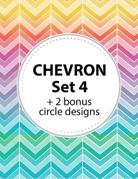 Chevron Background Set 4 + 2 Bonus Circular shapes. 11 col