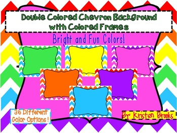 Chevron Background with Colored Frames PACK (personal or c