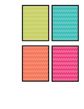 Chevron Behavior Color Cards