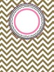 Chevron Binder Cover Pages - Set of 10