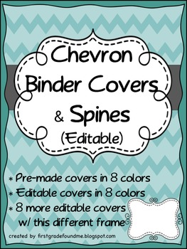 Chevron Binder Covers & Spine Inserts (Editable)