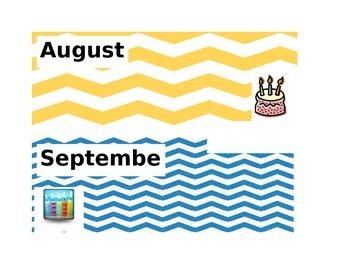 Chevron Birthday Months