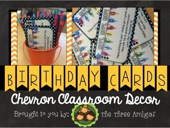 Chevron Birthday Notecards