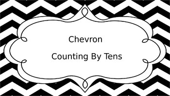 Chevron Black and White Numbers Counting By 10s