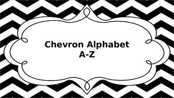 Chevron Black and White Word Wall Alphabet