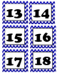 Chevron Blue Cubbie Number Cards