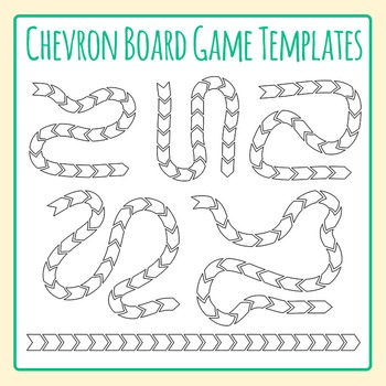 Chevron Board Game Templates / Layouts Clip Art for Commer