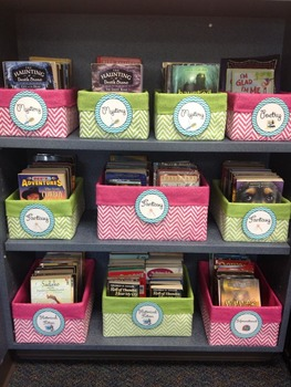 Chevron Book Labels (30 genres)