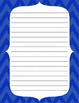 Chevron Border Writing Paper Sample Pack