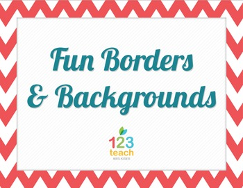 Chevron Borders and Backgrounds - Multiple Colors