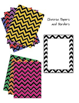 Chevron Borders and Digital Papers