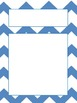 Chevron Borders with Text boxes, lined paper, and blank boxes