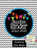 Chevron & Bright Bunting Teacher Binder {2016-2017}
