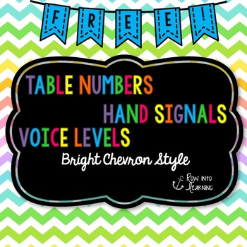 Chevron Brights - Table Numbers, Hand Signals, Voice Level