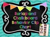 Chevron Burlap and Chalkboard Behavior Clip Chart-Editable